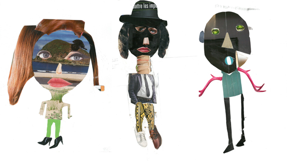 Collages des enfants DADA